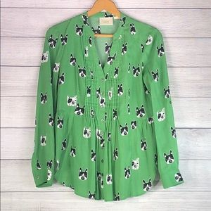 Anthro. - Maeve Pug Button Down Blouse